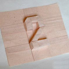 Inspiration.  Pop-Up Lettering - 3D Origami by Carlos Nazario Takes Paper to a New Level (GALLERY)