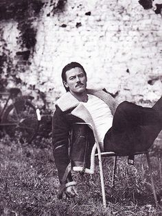 Actor Luke Evans sports the white Riviera T-shirt in this week's Telegraph men's style.