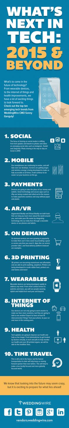 What's Next In #Tech? 2015 and Beyond! - #infographic