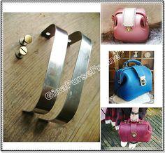 12.5cm (5inch) rectangle internal metal purse frame with screw hinge -1set