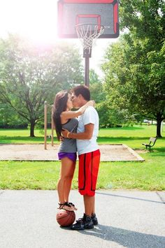 Love & Basketball.  I wanna take a picture with Nathanael like this with a soccer ball.