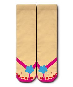 Another great find on #zulily! Peach & Pink Sandal Socks - Women by Ogobongo #zulilyfinds