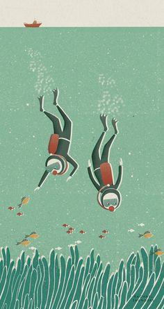 Rachael Saunders, diving, under the sea, fish,
