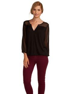 Joie Precious Top  #joiefallfashion #blouse #shirt #sheer #fall