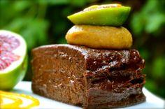 Fig and Dark Chocolate Quinoa Mud Cake