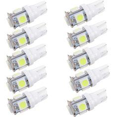 WLJH 10x White 360 Degree 5050 SMD 168 194 2825 w5w T10 LED Car Light Bulbs 12v Auto Lamp Parking led Light License Plate Lights