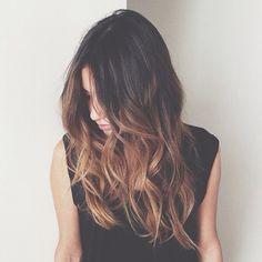 Long wavy hair with balayage