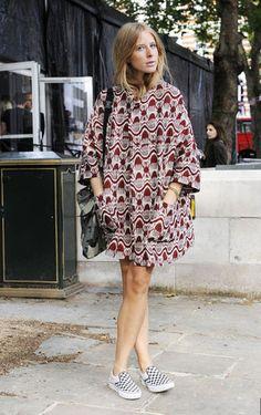 Vans Checkerboard Slip-ons at London Fashion Week (2012)