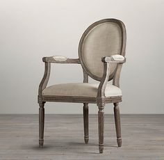 I have two arm chairs in my dining room and I want to transform them into something like this.