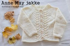 Anne-May Jakke -oppskrift Baby Knitting Patterns, Baby Patterns, Crochet For Kids, Knit Crochet, Baby Barn, Kids And Parenting, Kids Outfits, Ravelry, Rompers