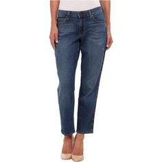 CJ by Cookie Johnson Pearl Ankle Slouchy Straight in Hall Women's... ($81) ❤ liked on Polyvore featuring jeans, blue, blue wash jeans, straight-leg jeans, mid-rise jeans, relaxed jeans and blue jeans