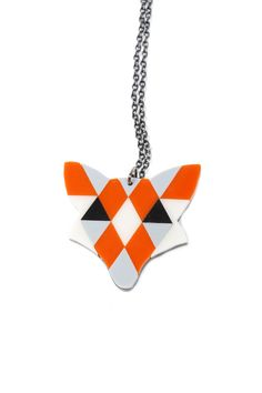 Mosaic Fox Necklace