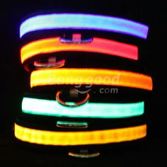 LED Flashing Lighting Pet Collar Nylon Cat Adjustable Safety Rope