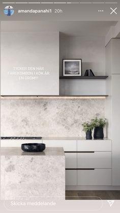 Interior Desing, Interior Design Kitchen, Interior Design Inspiration, Minimal Kitchen, Modern Kitchen Design, Minimalist Decor, Minimalist Design, White Shaker Kitchen, Küchen Design