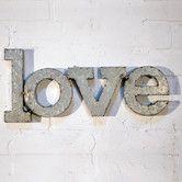 """LOVE"" Wall Décor #birchlane"