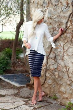 Modest Skirt - knee length skirt
