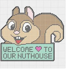 WELCOME TO OUR NUTHOUSE * SQUIRREL WALL HANGING by KATHY