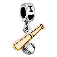 Baseball Dangle charm