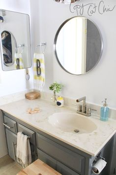 Copy Cat Chic: Ranch House Redo | The Front Bathroom