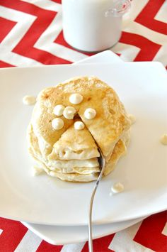 minimalist baker white chocolate chip pancakes!!