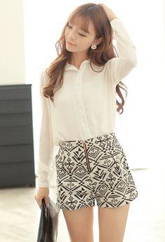 487d2d78f2 Qoo10 Singapore | Aztec Print High-waisted Shorts #fashion #women #style #