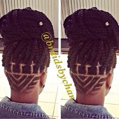 Nice undercut and the braids add a special touch to this look!