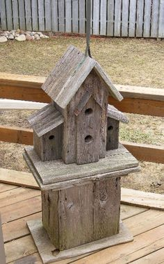 Image detail for -The stand for this birdhouse was made from the same twice recycled ...