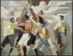 Day 15 15 - players in a Rugby Union team Picture by André Lhote , 1917 Famous rugby players include: Sean Connery, John F. Rugby Poster, Saint Quentin, Cubism Art, Georges Braque, Post Impressionism, Grand Palais, Sports Art, Art Themes, Egyptian Art