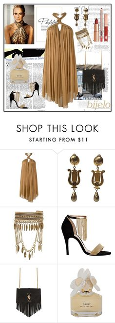 """""""Daisy"""" by lindaking67 ❤ liked on Polyvore featuring Jay Ahr, New Look, Lanvin, Yves Saint Laurent and Marc by Marc Jacobs"""