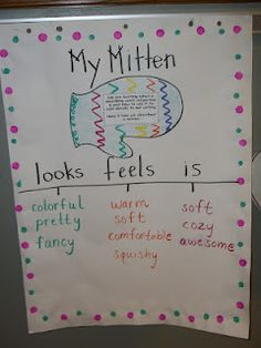 "Would be a great descriptive word activity to go along with ""The Mitten"" unit +) Not only learn about descriptive word, but also know about classification(=group)."