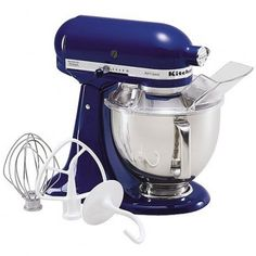 KitchenAid Artisan Series Blue Willow Countertop Stand Mixer at Lowe's. The KitchenAid Artisan Series Tilt-Back Head Stand Mixer, in blue willow, is incredibly versatile and more than a mixer. Artisan Mixer, Kitchenaid Artisan Stand Mixer, Alma Cupcakes, Kitchenaid Standmixer, Stainless Steel Bowl, Head Stand, Small Appliances, Kitchen Appliances, Townhouse