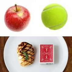 Control Your Portions!  Tips For Success  #Tip: Remember that a serving of fruit should be the size of a tennis ball; a 3 oz/90 g portion of meat should be the size of a deck of cards.  _____________________________     #nutrition #portion #portioncontrol #tip #tipsforsuccess #healthyoptions #healthy #health #wellness #loseweight #weightloss #fitness #fitmom #fitspo #holistichealth #instahealth #instafood #instafit #instagood #instalike #instafollow #instadaily #igers #igerstoronto…