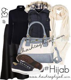 Hashtag Hijab Outfit #139 by hashtaghijab featuring a gold handbagEAST turtle neck top€37-houseoffraser.co.ukNavy blue vest€25-thehut.comLC Lauren Conrad floor length maxi skirt€22-kohls.comConverse metallic flat€40-zappos.comGold handbag€33-modcloth.comOblong scarve€39-yoox.comMantaray cable knit mitten€5,89-debenhams.com