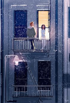 Pascal Campion.   On The Balcony.