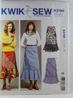 Kwik Sew 3789 Misses' Skirts Sewing Pattern by Allyssecondattic