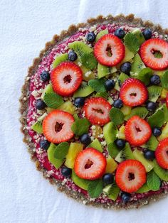 Summer Fruit Pizza from Practically Raw Desserts by Amber Shea Crawley