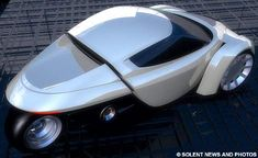A car manufacturer has announced it is on the verge of creating a three-wheeled electric sports car that can travel faster than a Porsche. The enviromentally friendly ZAP Alias will cost and does 0 to in just seconds with a top speed of Electric Car Conversion, Porsche, Reverse Trike, Trike Motorcycle, Electric Cars, Electric Vehicle, Electric Scooter, 3rd Wheel, City Car