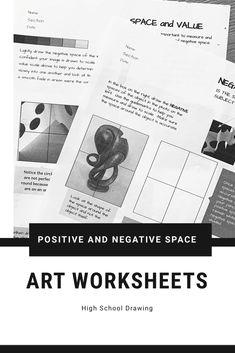 These worksheets can supplement any art class activity focusing on learning to see and draw positive and negative space. The biggest mistake I see is when students draw a beautifully detailed image only to realize it is not in the right space. Learning to be aware of both positive and negative space in art is a skill that takes time and practice. These four worksheets break it down into simple terms and help train the eye to become aware of both when drawing
