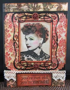 My Stampsmith card using their photo image rubber stamp of Lucy - Scraps From A Broad