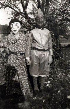 Halloween c. 1940's.  Wow.  Horrifying