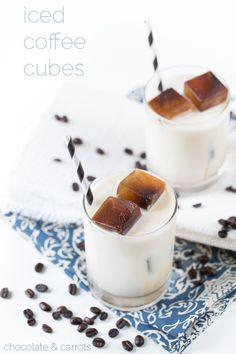 iced coffee cubes