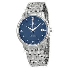 Omega De Ville Prestige Blue Dial Stainless Steel Ladies Watch 42410372003001