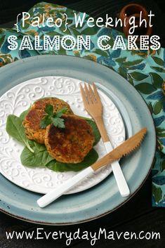 Paleo Salmon Cakes Recipe with sweet potato. Freezable, also!