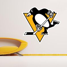 Shop Hockey style wall stickers to add inspiration to your game room. Sports Wall, Sports Logo, Wall Stickers, Wall Decals, Pittsburgh Penguins Logo, Nhl Logos, Ice Hockey Teams, Inspiration, Shopping