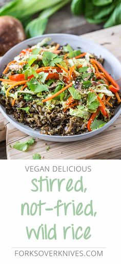 Flavorful wild rice and a colorful combination of steam-fried vegetables makes a delicious alternative to traditionally greasy fried rice. To make this...
