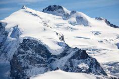 Monte Rosa Dufourspitze (4634 m), Nordend, Monte Rosagletscher, Zermatt, Switzerland