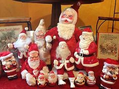VINTAGE SANTA CLAUS CHRISTMAS DOLLS and antique collectables