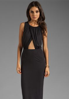 MARA HOFFMAN Fitted Keyhole Dress in Black at Revolve Clothing - Free Shipping!