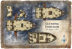 A series of battle maps created for a variety of fantasy tabletop RPGs.