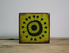 Mid Century Modern MCM Atomic Starburst Art Block by MatchBlox, $29.00